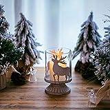 Sziqiqi 2er Set Vintage Kerzenleuchter Kerzenständer Kerzenhalter Windlichthalter aus Metall für Stumpenkerzen, Hurricane Kerzenständer Dekoration für Party Weihnachten Tisch Mantel Kamin, Weiß - 2