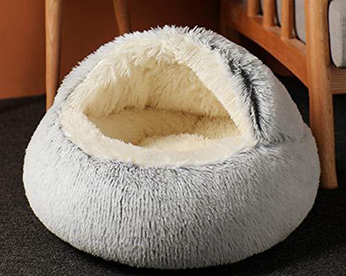 Cama para mascotas,tamaño pequeño,mediano y cálido,para perro,gato,cuna para dormir para mascotas, antideslizante,cojín de sofá para cachorros,cueva gruesa para mascotas para otoño invierno