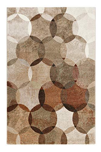 Teppich Cognac Braun Kurzflor für Wohnzimmer Schlafzimmer Flur Kinderzimmer Esprit Home MODERNINA das Original (120 x 170 cm)