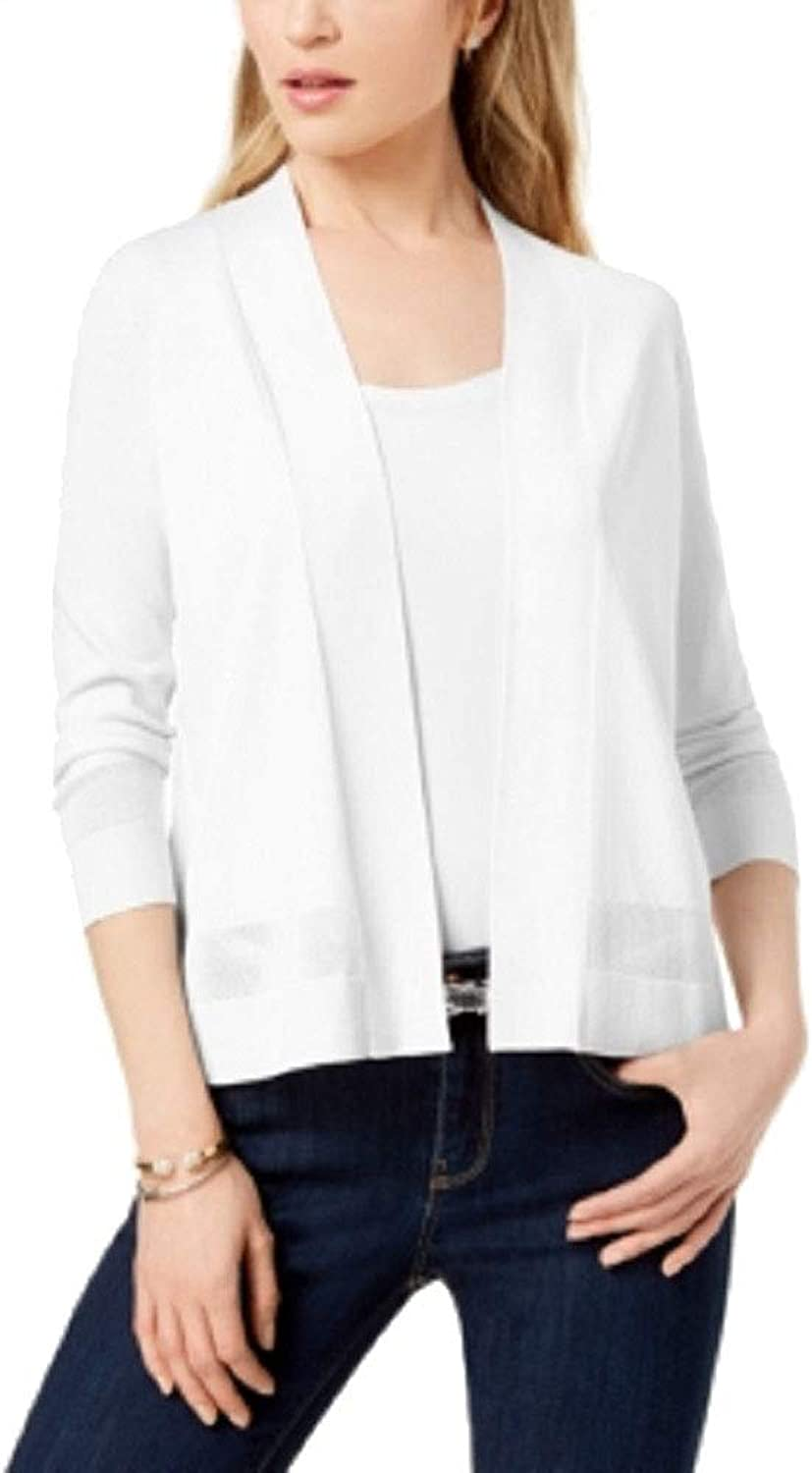 Charter Club Perforated 3 4Sleeve Cardigan