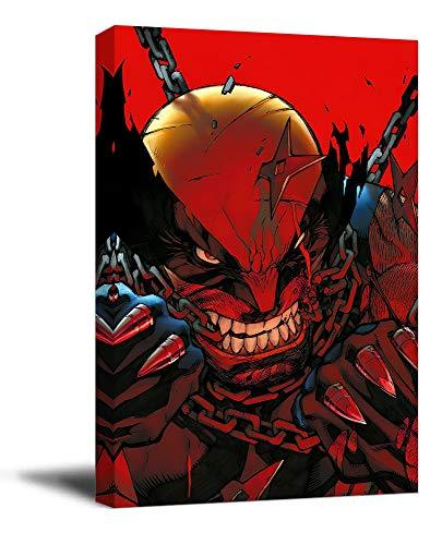 ARYAGO Wolverine Kunstdruck, modern, 40,6 x 61 cm, Holzrahmen, Filmposter X Men Logan, Kunstdruck, Wohnzimmer, Schlafzimmer, Kunstdruck, gespannt und fertig zum Aufhängen