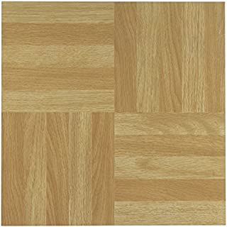 Achim Imports FTVWD20445 Tivoli Four Finger Square Parquet 12 x 12 Self Adhesive Vinyl Floor Tile-45 Tiles/45 Sq. Ft, Piece, 45