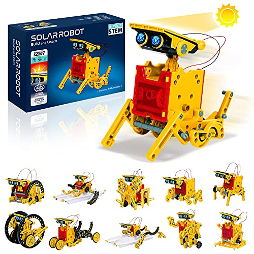 GALOPAR STEM Toy 12-in-1 Solar Robot Toys, Education Science Robotics Kits for Kids Ages 8+, DIY Learning Science Building Toys, which Trains Skills of Science, Technology, Robotics for Girl and Boys