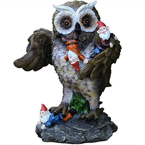 CCOQUS Garden Gnome Outdoor Statue, Owl Massacre Funny Gnomes For Outside Garden Patio Holiday Decor Original Design