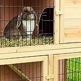 Zoom IMG-2 dibea gabbia coniglio legno casetta