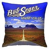 OLYIE Bob Seger Decorative Pillowcase Square Pillowcase Cush