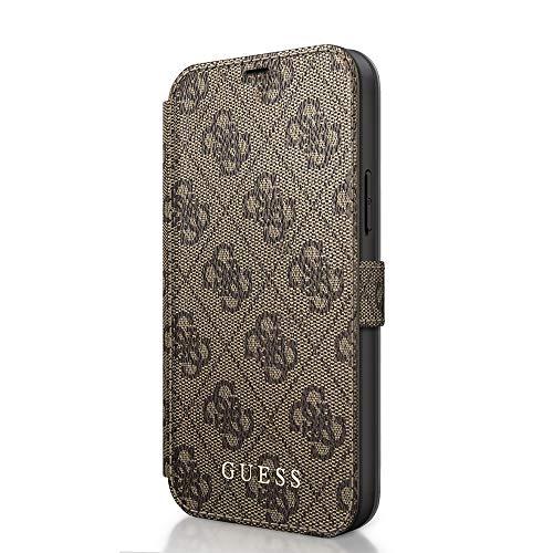 GUESS Boekhoes 4G Brown, voor iPhone 12/12 Pro