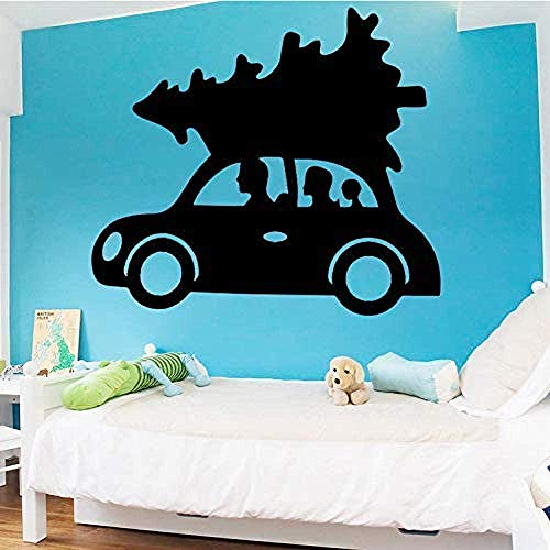 Cartoon Auto Wandaufkleber Baum Für Kinderzimmer Dekoration Familienausflug Aufkleber Schlafzimmer Zubehör Aufkleber Wanddekoration Tapete