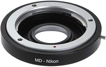 Shuangyu Lens Adapter Infinity Focus with Glass for Minolta Mount Lens Nikon-AI Mount DSLR Cameras