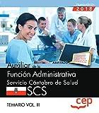 Auxiliar de la Función Administrativa. Servicio Cántabro de Salud. SCS. Temario Vol. III.: 3