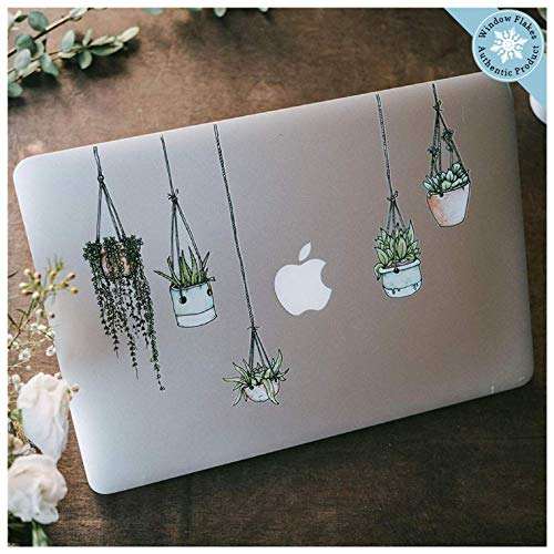 Hanging Plant Laptop Sticker Pack - Plant Stickers Laptop Decal - Vinyl Decal Journal Sticker - Cute Artsy Stickers for Planner, Computer, Locker, Scrapbook, Diary Notebook, Macbook, iPad, or Luggage