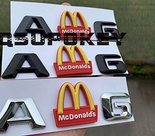 BLOUR Personalidad vendedora McDonald's M Logotipo de la Cola Trasera AMG Modificado Arco Dorado Placa del Logotipo del Coche Palabra Etiqueta engomada del Coche decoración