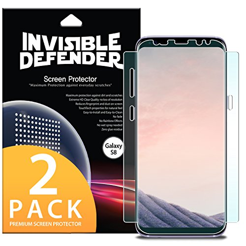 Ringke Screen Protector Compatible with Galaxy S8 Invisible Defender Full Coverage Version...