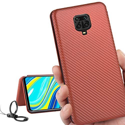 Xiaomi Redmi Note 9S ケース 手帳型 64GB / 128GB SIMフリー 対応 スマホケース REDMI Note9S 手帳 カバー Note9S ケース カバー 携帯ケース 携帯カバー case 【iCoverCase】 外:炭素