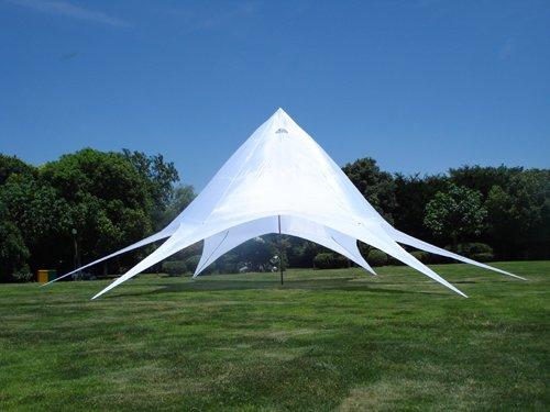CLP Sternzelt 14M | XL-Sternzelt Für Den Garten I Event-Zelt Mit 14 Meter Durchmesser I Überdachten Zeltfläche Von Ca. 40 M² I In Vielen Farben, Farbe:weiß