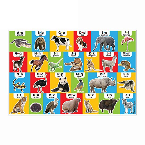"Melissa & Doug Animal Alphabet Floor Puzzle (Easy-Clean Surface, Promotes Hand-Eye Coordination, 24 Pieces, 36"" L x 24"" W)"