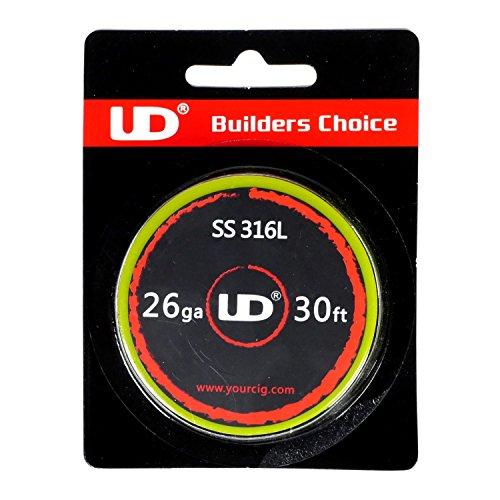 Youde UD Edelstahl Draht (SS316L) zum Selbstwickeln von Coils, Circa 9 m Rolle, 0.4 mm Durchmesser (26 awg), 1 Stück