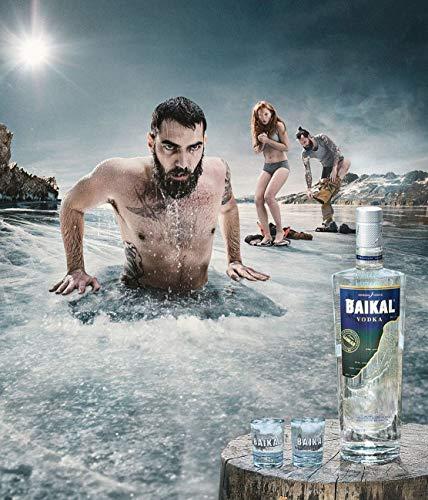 Baikal Vodka, sibirischer Premium Wodka 40% vol., Qualitäts Vodka mit Wasser des Baikalsees hergestellt (1 x 0.7 l) - 4