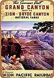 NOT Grand Canyon Blechschild Deko Schild Retro Poster