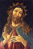 JH Lacrocon Sandro Botticelli - Cristo Coronado Espinas Reproducción Cuadro sobre Lienzo Enrollado 40X60 cm - Pinturas Retrato Impresións Decoración Muro