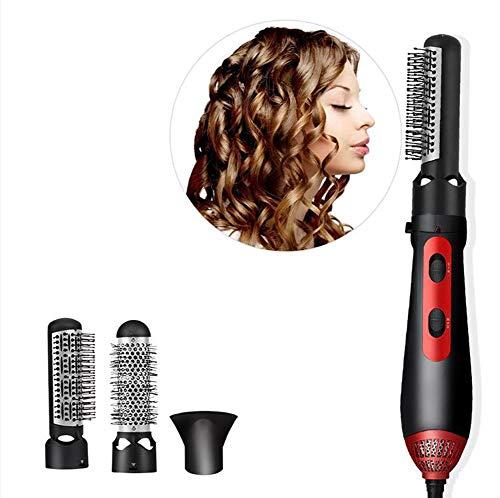 WLKQ Stylingborstels, warme luchtborstel, draagbare 3-in-1 krultang voor korte en lange haren, vochtbescherming, elektrische haarborstel met keramische coating