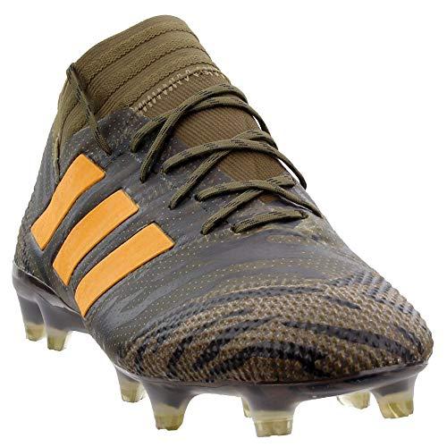 adidas Mens Nemeziz 17.1 Firm Ground Soccer Casual Cleats, Animal;Green, 9.5