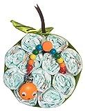 Pastel de pañales unisex para niña o niño - Manzana de pañales - Nuevo regalo de bebé - Pampers 3 - Set para regalo de baby shower nuevo bebé niña regalo para los nuevos padres (Apple Nr. 3)