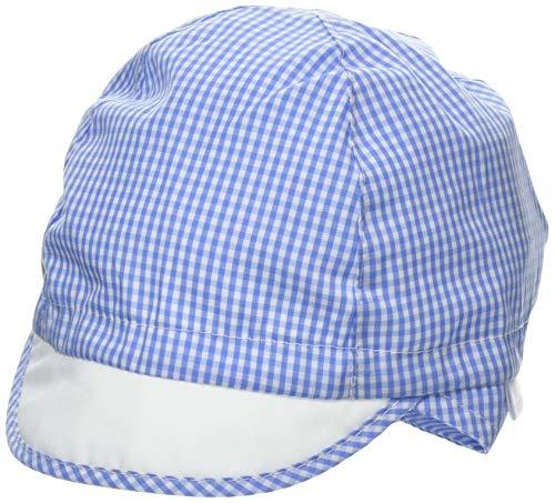 maximo Baby-Jungen Schildmütze, Vichykaro, elastischer Einsatz, Bindeband Mütze, Mehrfarbig (Helio-Weiss-Karo 5), 41