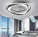 Ventilador LED Luz De Techo Ventilador De Techo Moderno Con Iluminación Silencioso Lámpara De Techo Habitación Para Niños Control Remoto Candelabro Acrílico Regulable Comedor Dormitorio Sala Estar