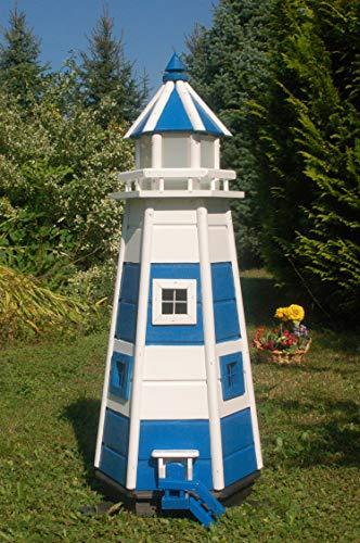 Deko-Shop-Hannusch Wunderschöner großer Leuchtturm aus Holz mit SOLAR Beleuchtung LED