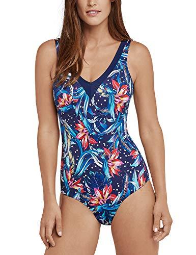 Schiesser Damen Mix & Match Badeanzug, Mehrfarbig (Multicolor 1 904), 42 (Herstellergröße: 042D)