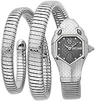 Just Cavalli Signature Snake Serpente Doppio Stainless Steel Watch JC1L168M0025 - Quartz Analog for Women in Stainless...