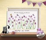 Fingerabdruck-bild Blumen für Taufe, Gästebuch Alternative, Taufgeschenk von Patentante Patenonkel