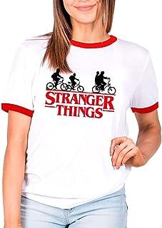 """Mx Games Camiseta Stranger Things► Estilo Ringer Unisex Estilo años 80"""" Manga Corta para Mujer y Hombre (S)"""