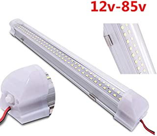 Asdomo LED Tube T5 Lamp 12V-85V 72 LEDs Automobile Compartment Light for Wardrobe Cupboard Closet Kitchen Under Cabinet Light