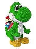 QSSQ Carácter Mario Modelo De La Serie Micro Mini Bloques Conjunto, Multi-Estilo 3D Puzzle Juguetes, Adornos De Yoshi del Dinosaurio para La Decoración del Hogar, Niños para Adultos,Yoshi