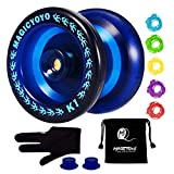 MAGICYOYO Responsive YoYo K1-Plus with Yoyo Sack + 5 Strings and Yo-Yo Glove Gift (Blue)