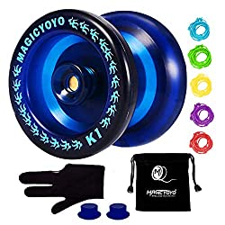 cheap MAGICYOYO Responsive Yoyo K1-Plus, Yoyo Pocket + 5 Threads, Yoyo Gift Gloves (Blue)