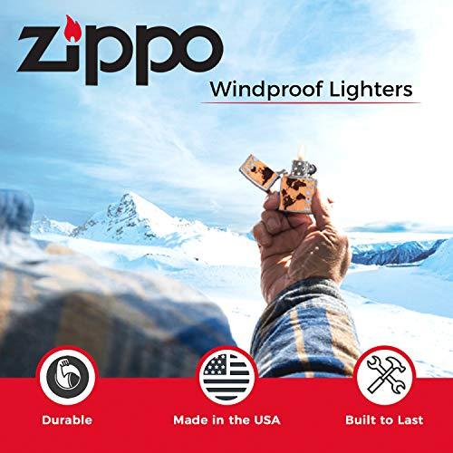 Zippo Windproof Lighter|Metal Long Lasting Zippo Lighter|Best with Zippo Lighter Fluid|Refillable Lighter| Perfect for Cigarettes Cigars Candles|Pocket Lighter Fire Starter|Zippo Wall Emblem