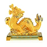 WGXY Twelve Zodiac Full Set,Chinese Zodiac Resin Feng Shui Statue Decoration,Christmas New Year Crafts Gift Collection,Dragon