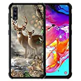 for Samsung Galaxy A70 Case Vector Forest Deer Pattern,