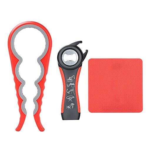 Otstar Glasöffner und Pull-Dosenöffner Kit zum Öffnen Störrischer Deckel Schwache Hände, Senioren, Arthritis und Frauen