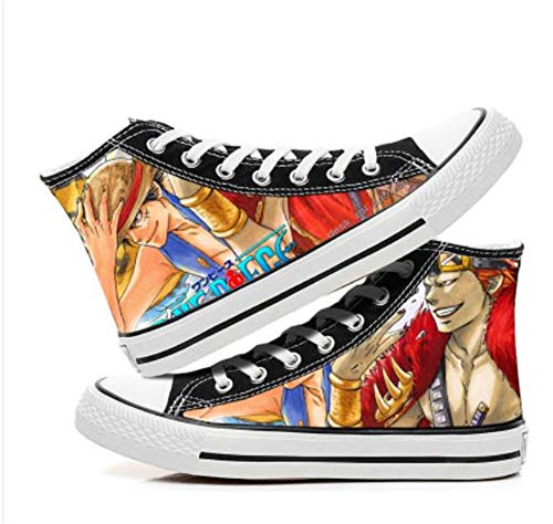 BOBD-DW Impresión A Todo Color Anime Cosplay Moda Casual Graffiti Zapatos De Lona De Alta Ayuda Canvas De Lona Estilo Casual Y Deportivo Zapatillas Unisex 35