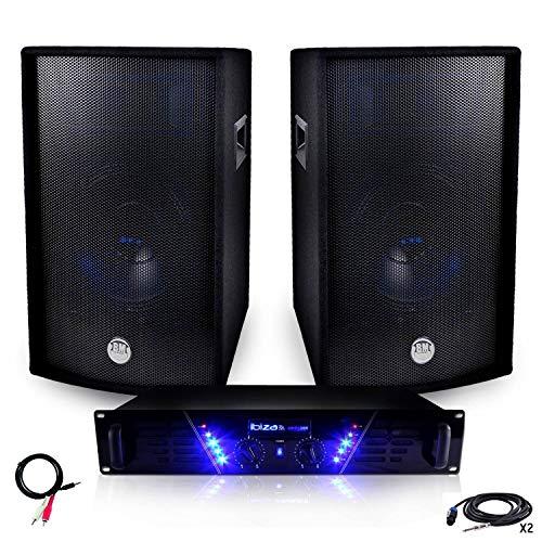Pack PA Verstärker amp-300+ Lautsprecher bms-12-2x 600W + übereinstimmende