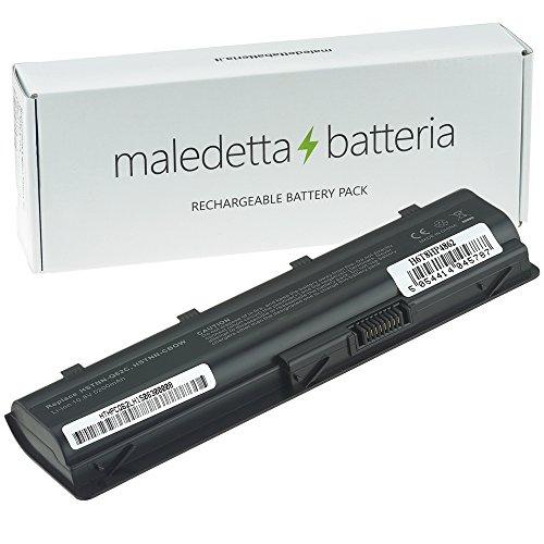 Batteria MaledettaBatteria Serie MU06 per Portatile HP 250 255 2000 635 650 655 Pavilion G4 G6 G62 G7 Compaq Presario CQ56 CQ62 (6 Celle 5200mAh 10,8-11,1 V Nera)