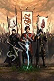 Best Print Store - Wheel of Time Characters Art, Rand al'Thor, Mat Cauthon, Perrin Aybara, Poster (13x19 inches)
