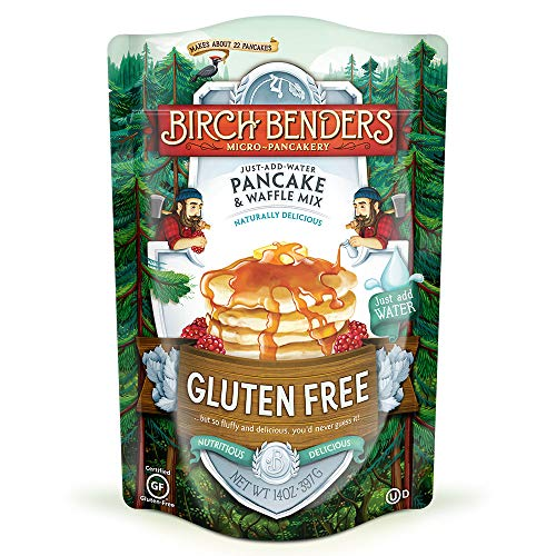 Gluten-Free Pancake and Waffle Mix by Birch Benders, Made with Brown Rice Flour, Potato, Cassava, Almond, and Cane Sugar, Family Pack, Just Add Water, 14 Ounce (1-pack)
