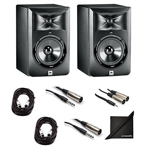Buy Discount JBL LSR 305 Studio Monitor Pair with XLR for Mixing Boards, TRS to XLR for Interfaces, ...