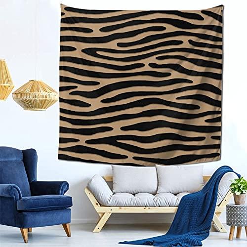 Gbyuhjbujhhjnuj Tapiz de pared grande con diseño de cebra o rayas salvajes para habitación de 59 x 59 pulgadas