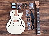 NEW 6 STRING MAHOGANY SEMI-HOLLOW JAZZ LP STYLE ELECTRIC GUITAR BUILDER KIT